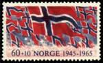Bilde av 563 60 ø.+10 ø.rød og blå 20-årsdagen for Frigjøringen