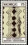 716 75 ø gul og brun Samisk håndverk
