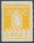 Grønland PP Afa 5 - 2 øre prima ubrukt (1700)