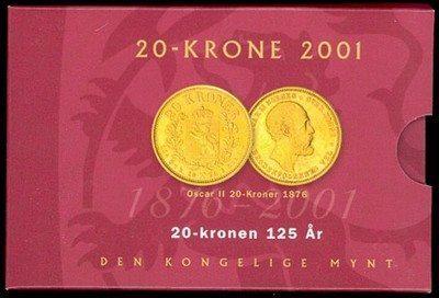 20 kr 2001 med stjerne i Blisterforpakning.