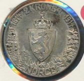 2 krone 1914 Mor Norge Kv 01