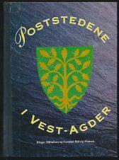 Poststedene i Vest-Agder. Innbundet.