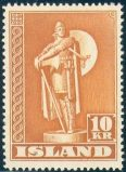 Island Afa 241b - 10 kroner orangebrun