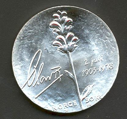 Bilde av 50 kroner 1978 - Kval 0. Foto ex.