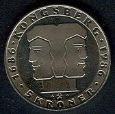 5 kroner 1986 Kongsberg mynt - Foto ex.