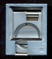 Lupe sammenleggbar i stål 8x forstørrelse