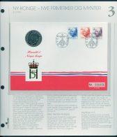 Bilde av SH myntbrev nr. 3 Harald V - Norges konge - 55 år 1992
