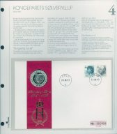 Bilde av SH myntbrev nr. 4 Kongeparets sølvbryllup 1993