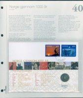 Bilde av SH myntbrev nr. 40 Norge gjennom 1000 år 1999