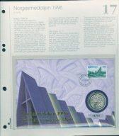 Bilde av SH myntbrev nr. 17 Norgesmedaljen 1996