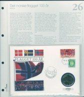 Bilde av SH myntbrev nr. 26 Flagget 100 år 1998