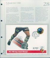 Bilde av SH myntbrev nr. 28 Fotball-VM i Frankrike 1998