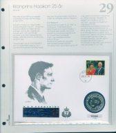 Bilde av SH myntbrev nr. 29 Kronprins Haakon 25 år 1998