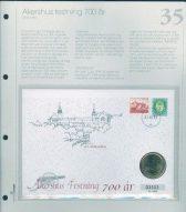 Bilde av SH myntbrev nr. 35 Akershus festning 700 år 1999