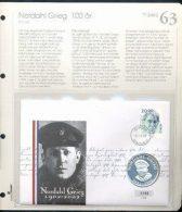 Bilde av SH myntbrev nr. 63 -  Nordal Grieg 100 år